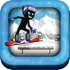 Stick-Man Pocket Snow-boarding Hero Game for Free