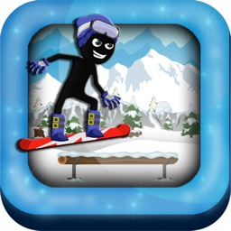 Stick-Man Pocket Snow-boarding Hero Game for Free