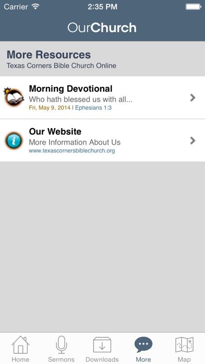Texas Corners Bible Church screenshot-3