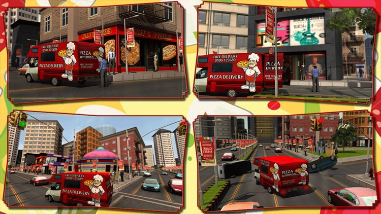 Pizza Delivery Simulator : Crazy City Food Free Transport Game screenshot-3
