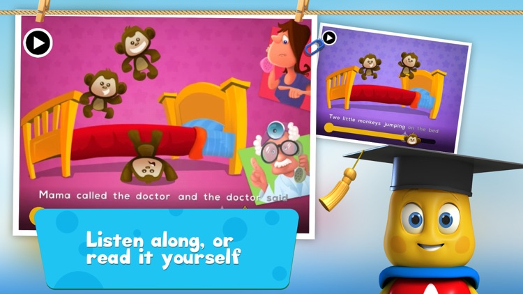 5 Little Monkeys Jumping On The Bed: TopIQ Story Book For Children in Preschool to Kindergarten HD screenshot-3