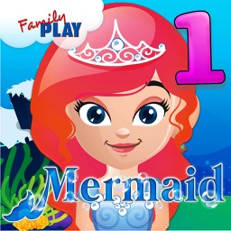 Mermaid Princess Goes to School: First Grade Learning Games