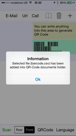 ‎QR-Code and Barcode Scanner & Generator with Control from file option