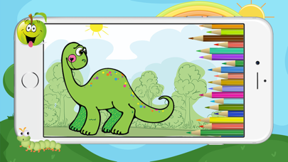 Dino Dinosaur Coloring Book - Cute Drawings Pages And