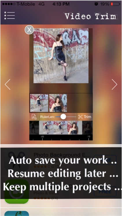 Video Trimmer Pro - Trim multiple portions in your movie clip then merge the clips as one! screenshot-3