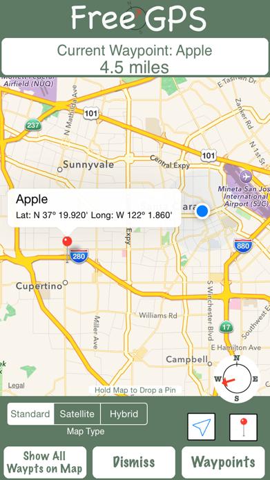 Free GPS Screenshot