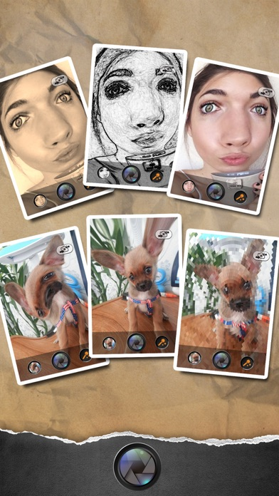 Funny Face - Photo Helium Booth with Sketch,Blur,Boken