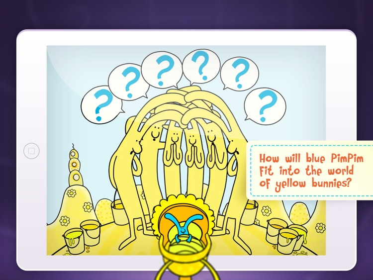 PimPim World: Blue Bunny on the Yellow Big Moon - an interactive storybook for kids screenshot-0