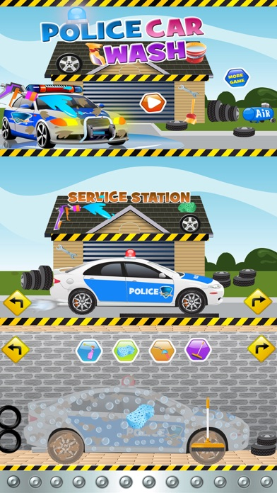 Police Car Wash Salon Cleaning & Washing Simulator screenshot two