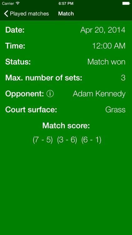 Matchpoint - personal tennis scoring
