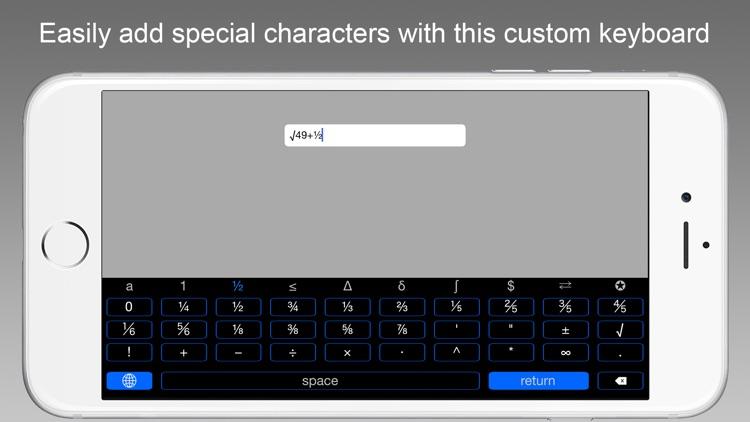 Symbol Keys - An iOS 8 Keyboard Extension