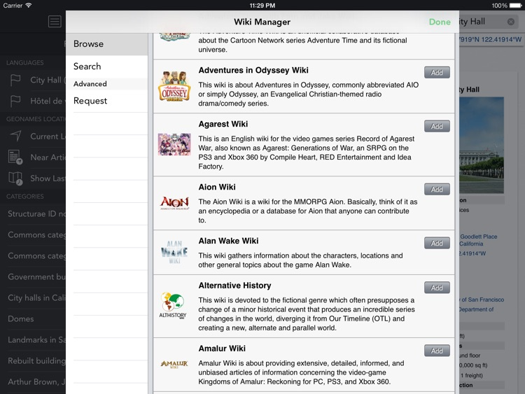Wikipanion for iPad screenshot-2