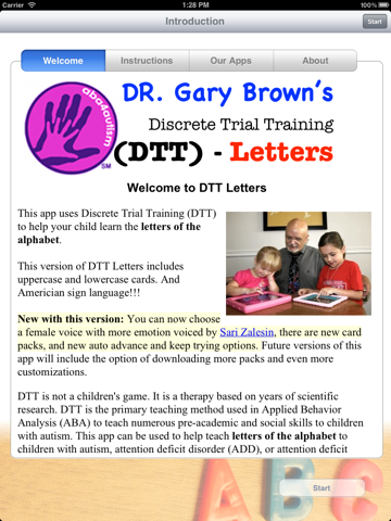 Autism/DTT Letters by drBrownsApps.com - Includes American Sign Language screenshot
