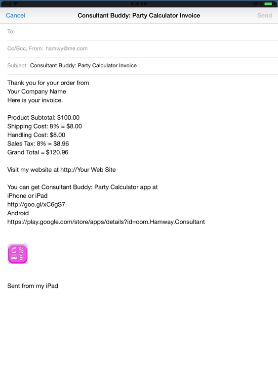Consultant Buddy: Party Calculator HD