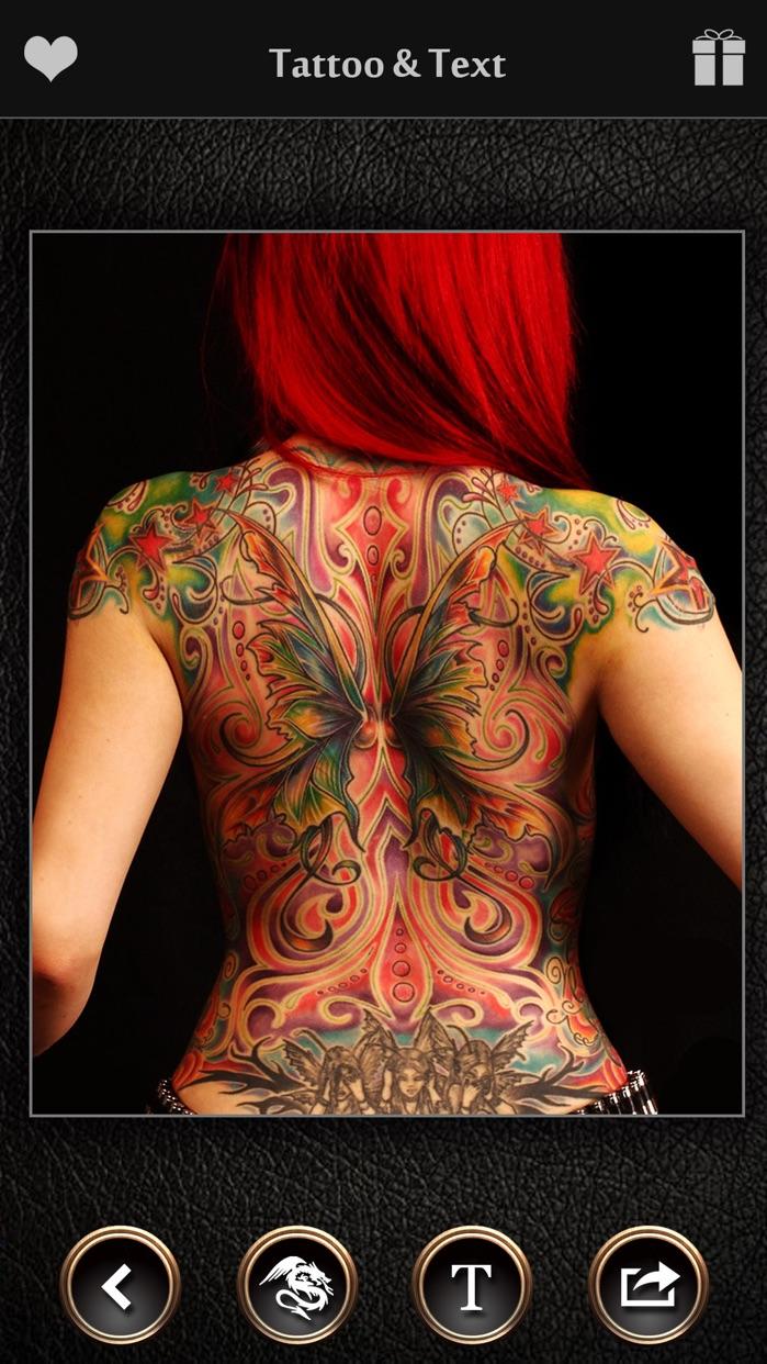 Virtual Tattoo Maker FREE - Photo Designer to add artist tattoos & fonts on yr body Screenshot