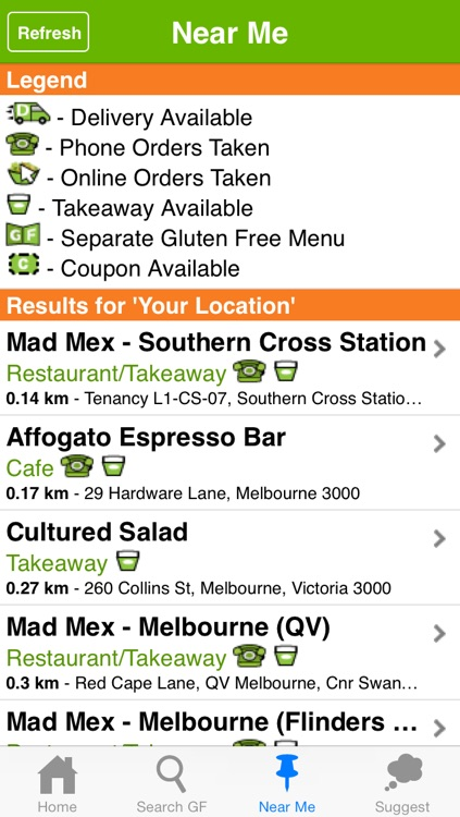 Gluten Free Eating Directory 1.5 screenshot-2
