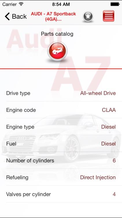 AutoParts Audi A7 screenshot-3