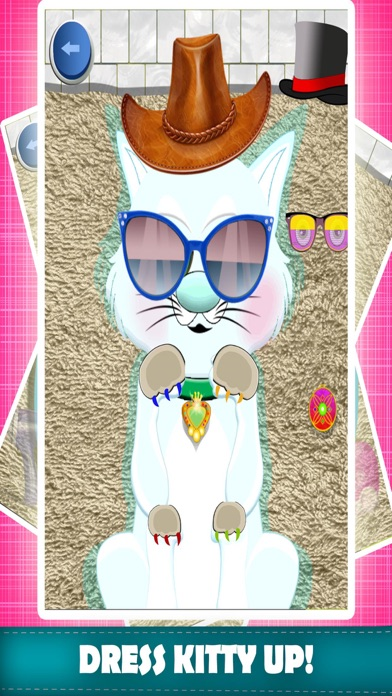 My Pet Kitty Care Wash & Dressup Makeover Salon Adventure - Free Games For Kids Screenshot on iOS