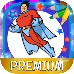Paint magical superheroes -  Coloring and painting super heroes - Premium