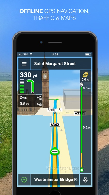 NLife UK & Ireland Premium - Offline GPS Navigation, Traffic & Maps screenshot-0