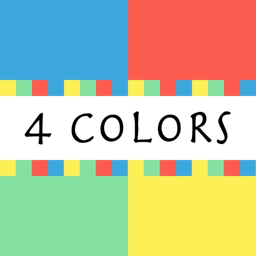4 colors - tap red, green, blue and yellow colors