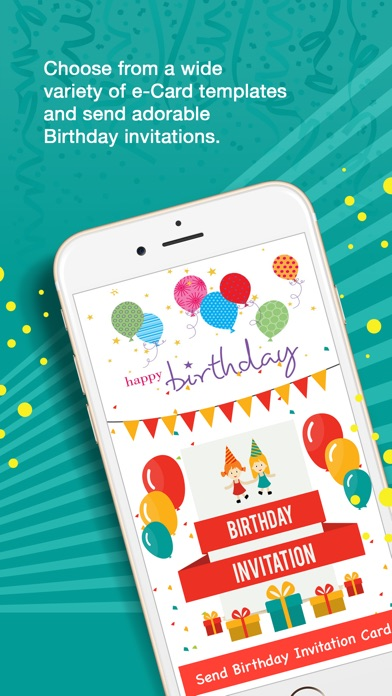 Screenshot 1 For Birthday Invitation Cards Pro