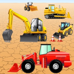 Digger Puzzles for Toddlers and Kids : play with construction vehicles !