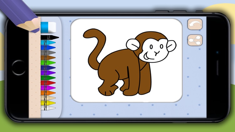 Color zoo and jungle animals - coloring books screenshot-3