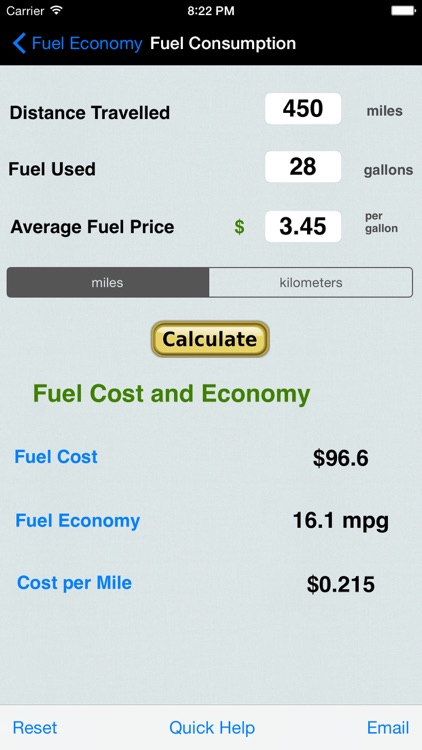 Fuel Calc : MPG, L100k, Car Economy Calculator screenshot-3