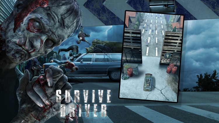 A Survive Driver Free: Best 3D Driver Game in Post Apocalyptic Setting with Zombies and Car Upgrades screenshot-3