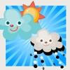 アニメーションベビー&キッズゲームは、子供-RENのためのアプリ第一段階で天気について学ぶために