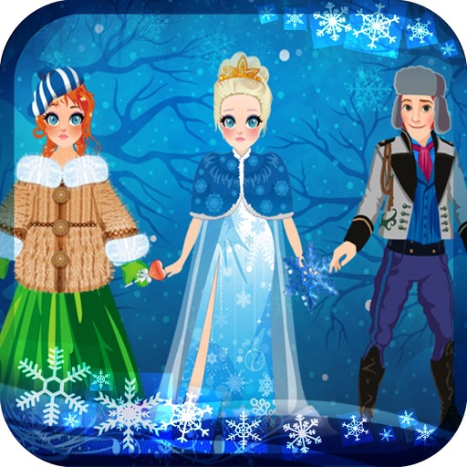 My Own Virtual World Snow Land Princess Dress Up Story Book - Free App iOS App