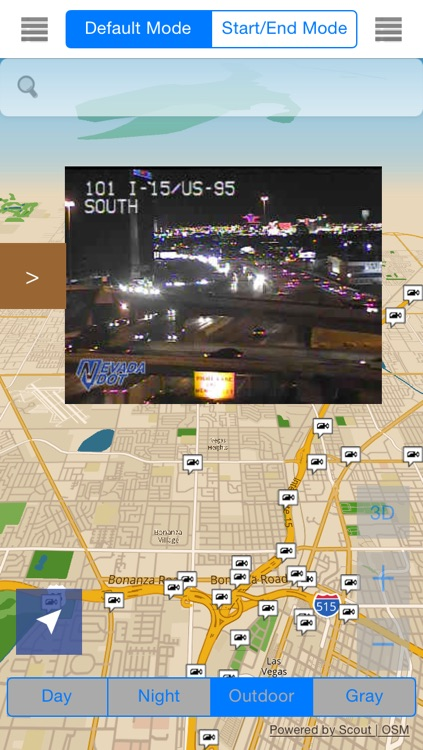 Nevada/Las Vegas Offline Map & Navigation & POI & Travel Guide & Wikipedia with Traffic Cameras Pro - Great Road Trip