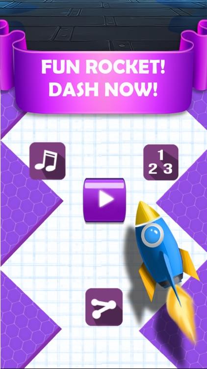 ZigZag Rocket - Dash Rocket on Cloud Path!