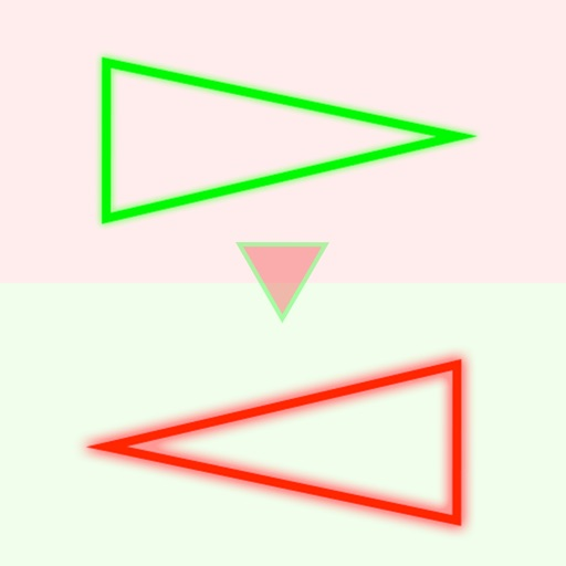Triangles - Swipe Red & Green Neon Signs in Right Direction iOS App