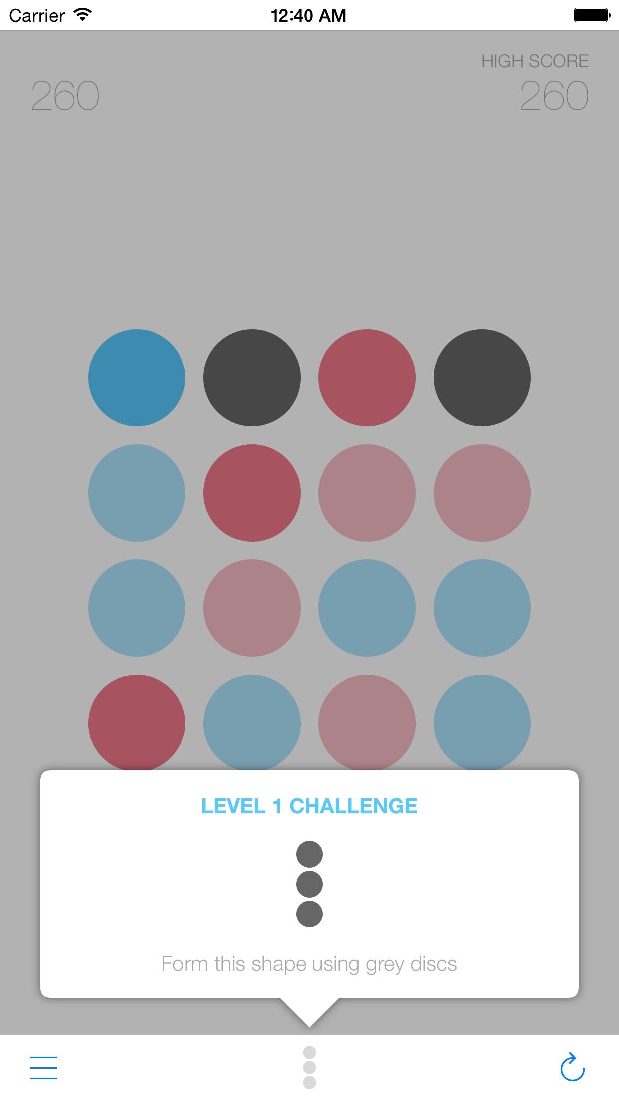 Screenshot do app Disc - Um Jogo Simples Para Gente Esperta