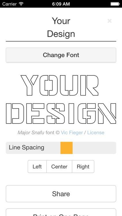Stencil Printer: Print Full Size Art & Calligraphy Designs