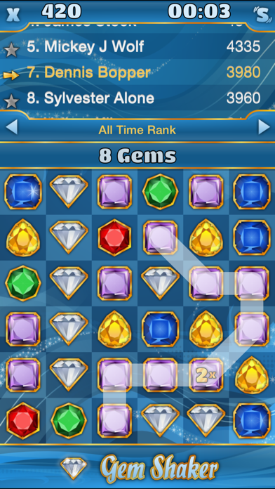 Gem Shaker Free screenshot one