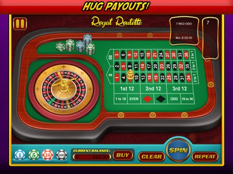 Royal Roulette Casino Style Free Games with Big Bonuses screenshot