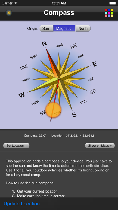 Compass screenshot one