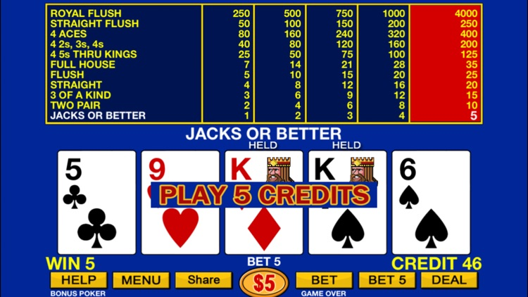 Video Poker plus HD screenshot-1