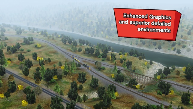 Trainz Driver 2 - train driving game, realistic 3D railroad simulator plus world builder Screenshot