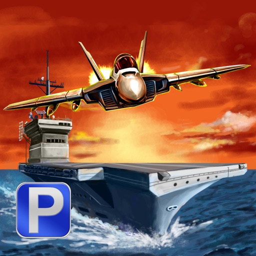 Aircraft Carrier Parking - F18 Fighter Jet Simulation Landing & Stealth Navy Boat Battleship Driving Games