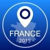 フランスオフライン地図+シティガイドナビゲーター、観光名所と転送