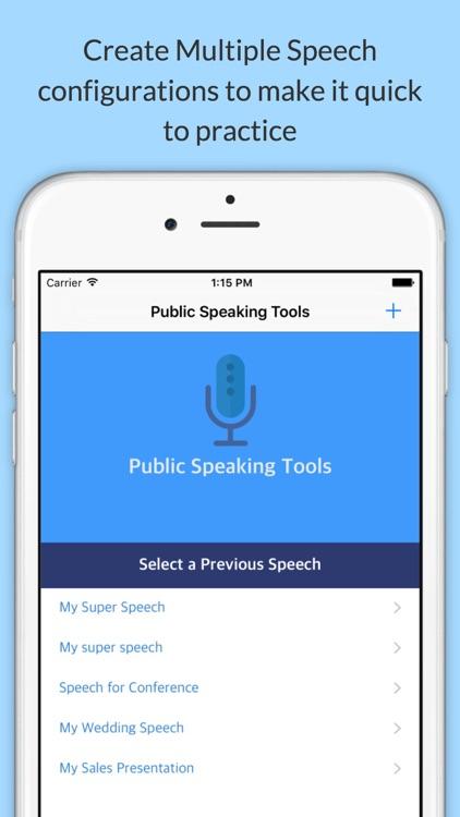 Public Speaking Tools