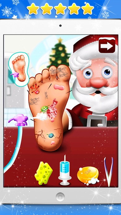 A Santa's Foot Spa Salon - Little Doctor Saves the