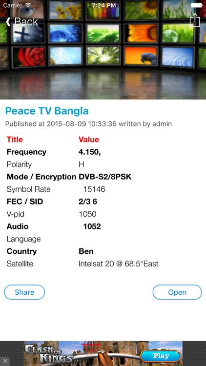 Bangladesh TV Channels Sat Info by Murat Akdas