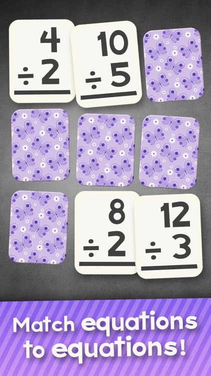 Division Flashcard Match Games for Kids in 2nd, 3rd and 4th Grade screenshot-3