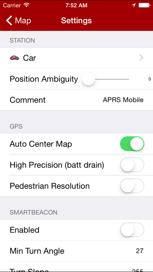 APRS Mobile App 截图
