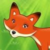 2-5岁儿童的森林动物的游戏。幼儿园,学前班和幼儿园的游戏和拼图。玩狐狸,熊,乌龟,刺猬,松鼠,昆虫,树木和鲜花。无偿的,新的教育!
